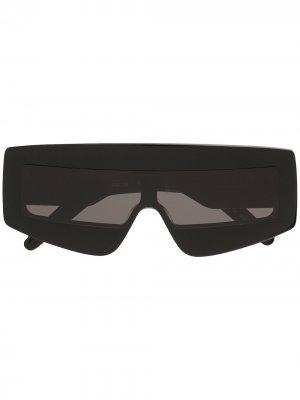 Солнцезащитные очки-маска Rick Owens. Цвет: черный