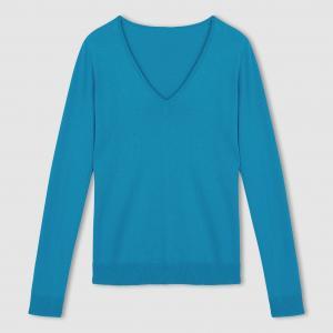 Пуловер с V-образным вырезом R essentiel. Цвет: черный