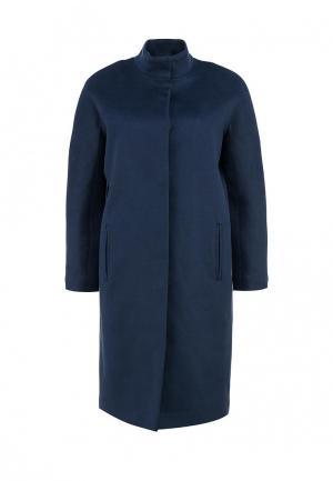 Пальто Анна Чапман. Цвет: синий