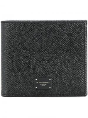 Классический бумажник Dolce & Gabbana. Цвет: чёрный