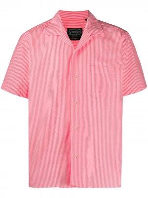 Полосатая рубашка Gitman Vintage. Цвет: розовый