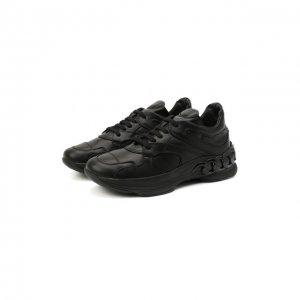 Кожаные кроссовки Dynamic Casadei. Цвет: чёрный
