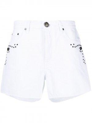 Джинсовые шорты с заклепками Jacob Cohen. Цвет: белый