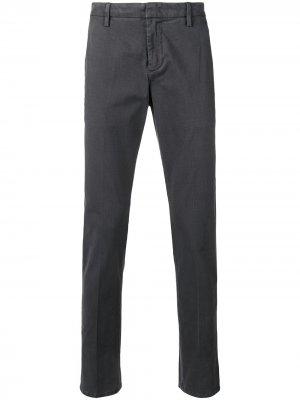 Классические брюки строгого кроя DONDUP. Цвет: серый