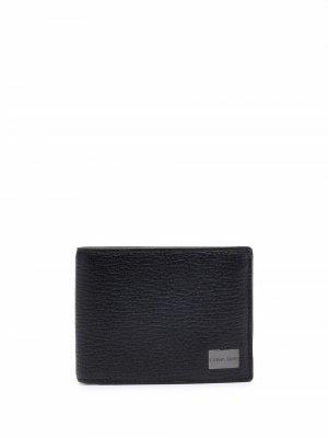 Бумажник с логотипом Calvin Klein. Цвет: черный