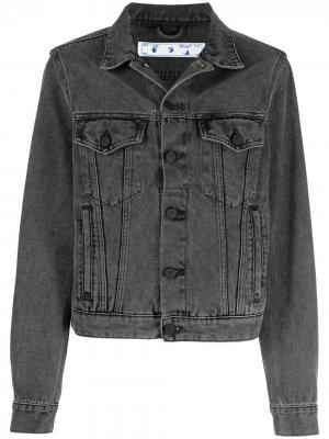 Джинсовая куртка с логотипом Arrows Off-White. Цвет: серый