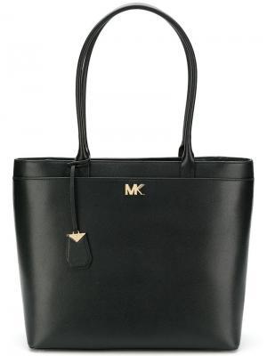 Большая сумка-тоут Maddie Michael Kors. Цвет: черный