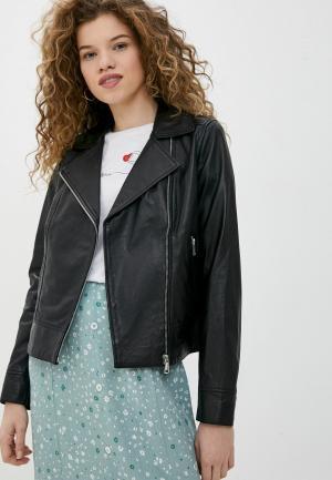 Куртка кожаная Oakwood MARJORY. Цвет: черный