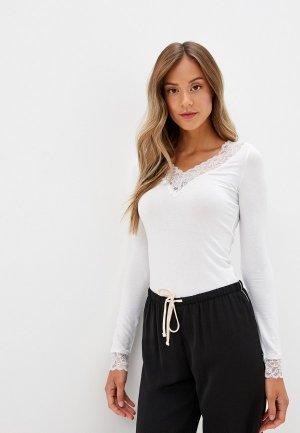 Пуловер домашний Tezenis. Цвет: белый