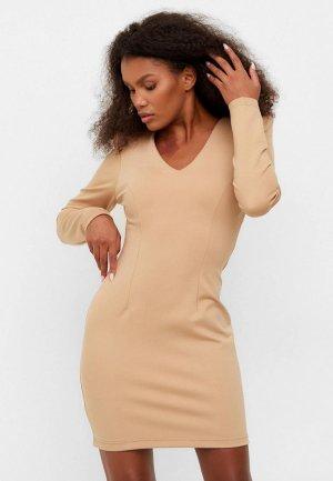 Платье Bornsoon. Цвет: бежевый