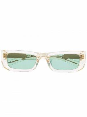 Солнцезащитные очки в квадратной оправе FLATLIST. Цвет: желтый