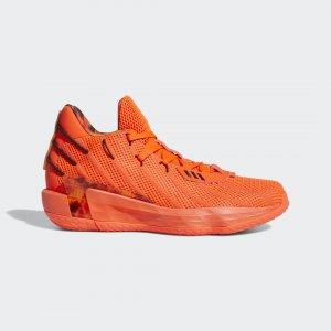 Баскетбольные кроссовки Dame 7 Fire Inside Performance adidas. Цвет: красный