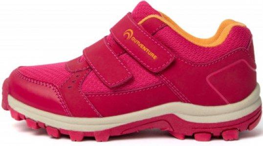 Полуботинки для девочек Track Lk, размер 25 Outventure. Цвет: розовый