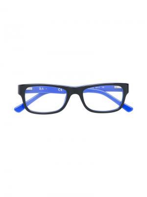 Очки в квадратной оправе RAY-BAN JUNIOR. Цвет: черный