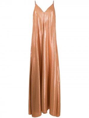 Платье макси с геометричным принтом Forte. Цвет: оранжевый