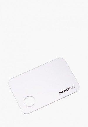 Палитра для макияжа Manly Pro смешивания косметики, ПА, 15 х 10 см. Цвет: прозрачный