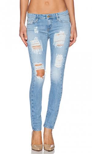 Укороченные джинсы scarlett Acquaverde. Цвет: none
