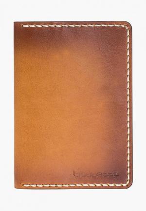Обложка для паспорта Bouletta Vintage Passport. Цвет: коричневый