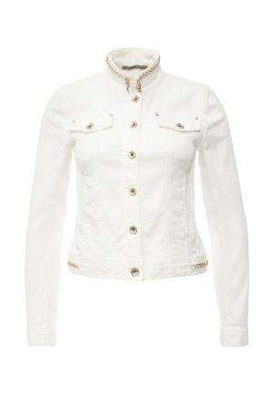 Куртка джинсовая Patrizia Pepe. Цвет: белый