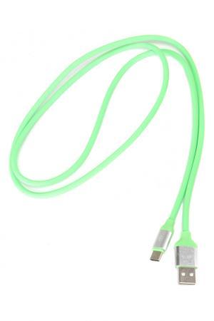 Кабель USB Type-C MOBYLOS. Цвет: зеленый