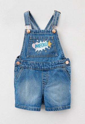 Комбинезон джинсовый Ostin O'stin. Цвет: голубой