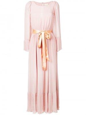 Длинное платье с поясом ANIYE BY. Цвет: розовый