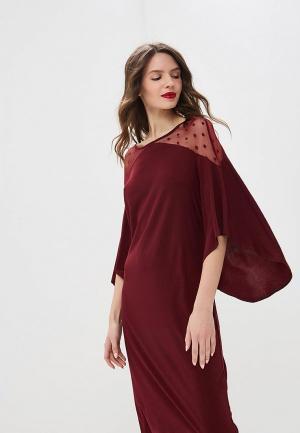 Платье Argent. Цвет: бордовый
