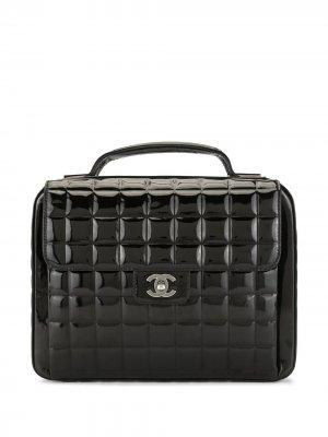 Портфель Choco Bar 2002-го года Chanel Pre-Owned. Цвет: черный