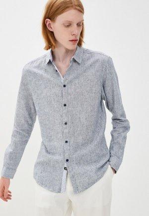 Рубашка Indicode Jeans. Цвет: голубой