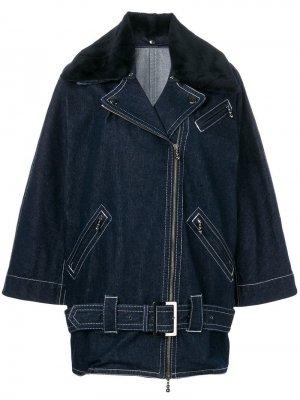 Джинсовая куртка в стиле оверсайз Marni. Цвет: синий