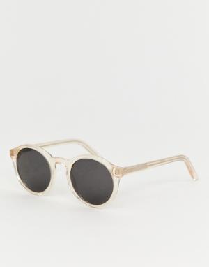 Круглые солнцезащитные очки в оправе цвета шампанского Barstow-Розовый Monokel Eyewear