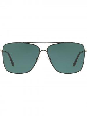 Солнцезащитные очки-авиаторы TOM FORD Eyewear. Цвет: синий