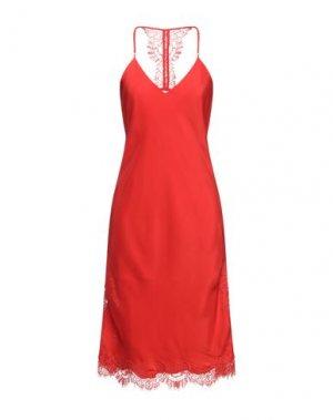 Платье миди GOLD HAWK. Цвет: красный
