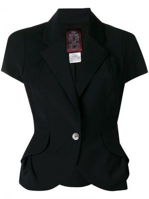 Структурный пиджак с короткими рукавами John Galliano Vintage. Цвет: синий