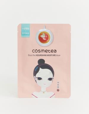 Увлажняющая и питательная маска-салфетка на основе черного чая -Бесцветный Cosmetea