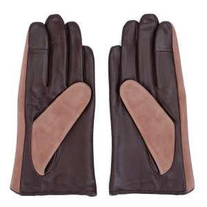 Перчатки Ekonika EN33358 beige/chocolate-20Z. Цвет: бежевый/коричневый
