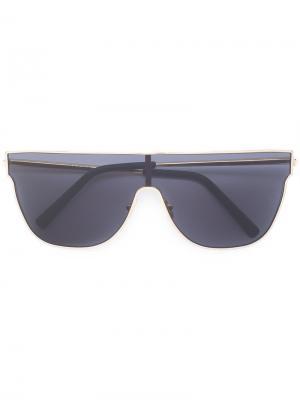 Солнцезащитные очки с угловатой оправой Retrosuperfuture. Цвет: металлический