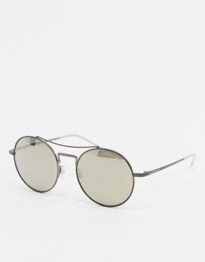 Светло-коричневые солнцезащитные очки-авиаторы -Коричневый Emporio Armani