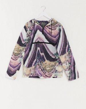 Куртка-дождевик с фестивальным мифическим принтом от комплекта -Фиолетовый цвет ASOS DESIGN
