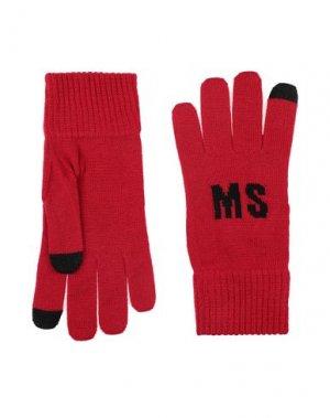 Перчатки MSGM. Цвет: красный