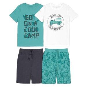 Комплект из 2 пижам 3-12 LaRedoute. Цвет: зеленый