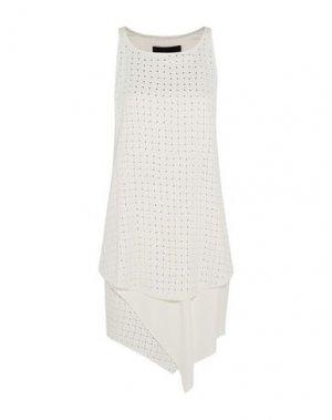Короткое платье JAY AHR. Цвет: белый