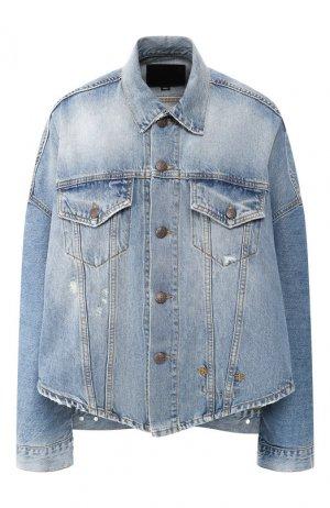 Джинсовая куртка R13. Цвет: голубой