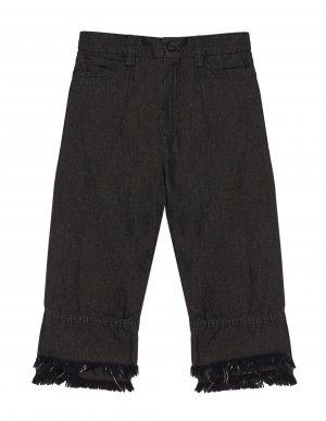 Черные джинсы из хлопка и льна Lost&Found kids