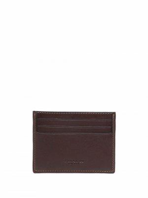 Жаккардовый кошелек Coach. Цвет: коричневый