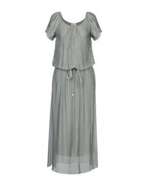 Длинное платье B.YU. Цвет: зеленый-милитари