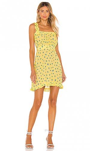 Платье с поясом mid summer FAITHFULL THE BRAND. Цвет: желтый