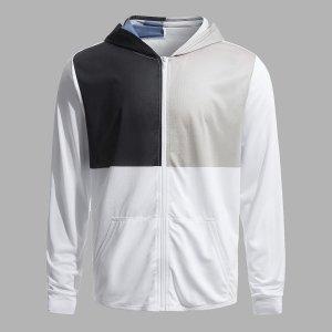Мужской Спортивная куртка контрастный с капюшоном SHEIN. Цвет: многоцветный