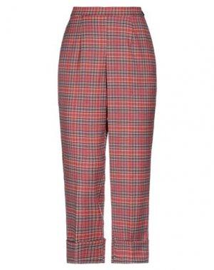 Повседневные брюки I'M ISOLA MARRAS. Цвет: красный