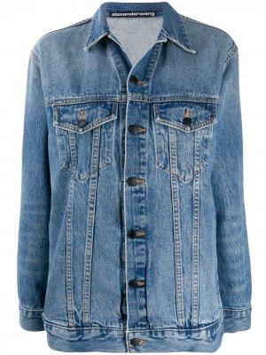 Джинсовая куртка свободного кроя Alexander Wang. Цвет: синий